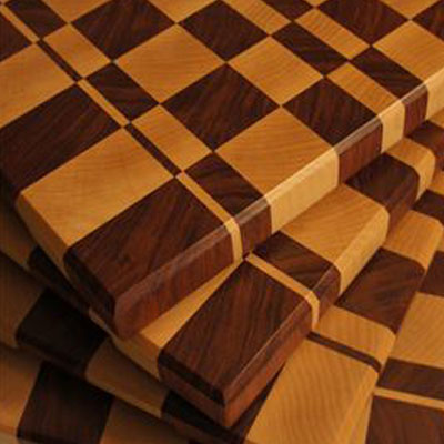 Wooden checkered boards