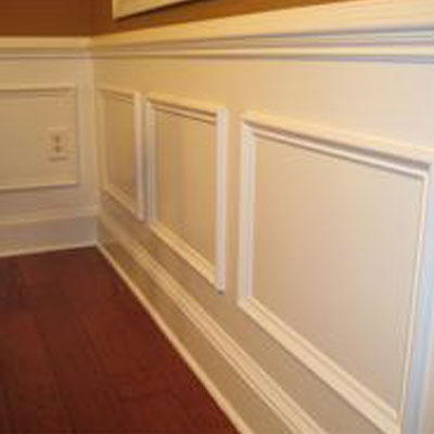 White wooden trim