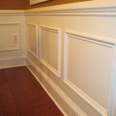 White wooden trim