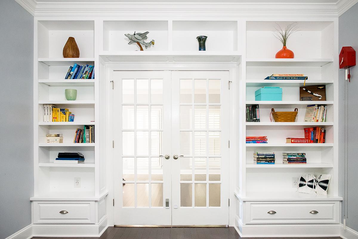 custom woodworking shelves