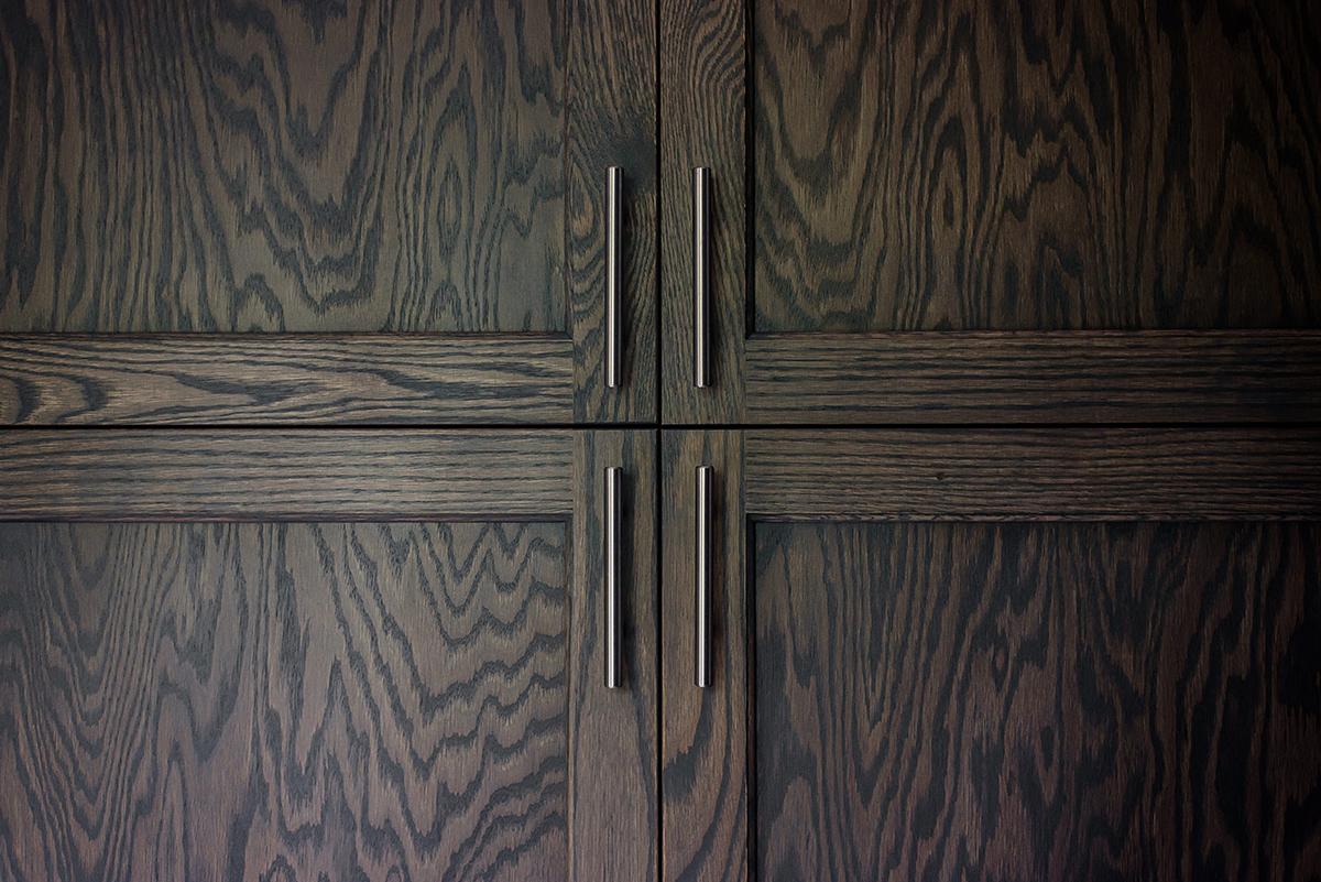 new darkwood cabinets